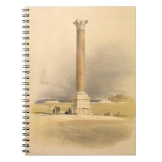 """El pilar de Pompey, Alexandría, de """"Egipto y de Nu Cuadernos"""
