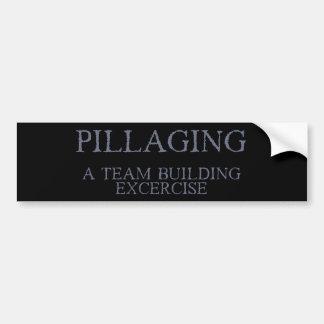 El pillar - un ejercicio de la formación de equipo pegatina de parachoque