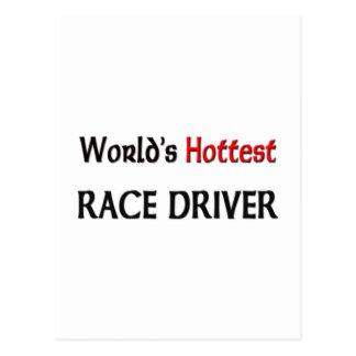 El piloto de carreras más caliente de los mundos tarjeta postal