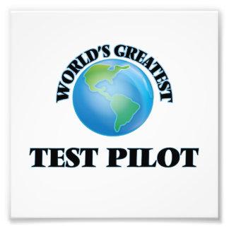 El piloto de la prueba más grande del mundo fotografía