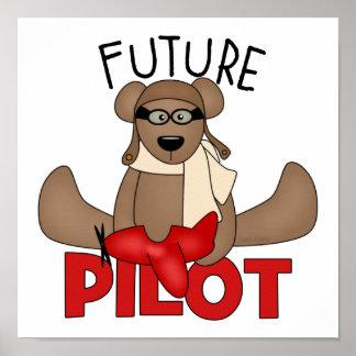 El piloto futuro embroma el poster