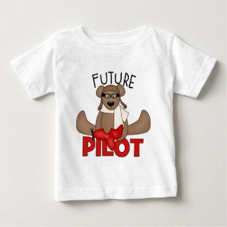 El piloto futuro embroma la camiseta playeras