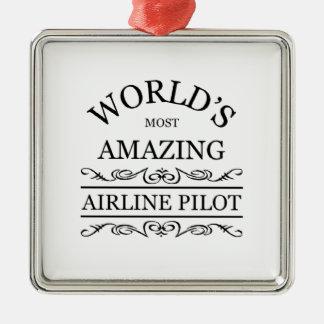 El piloto más asombroso de la línea aérea del mund ornamento de navidad