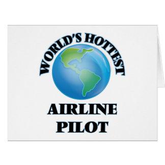 El piloto más caliente de la línea aérea del mundo tarjetas