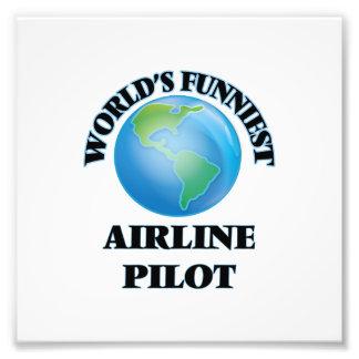 El piloto más divertido de la línea aérea del cojinete