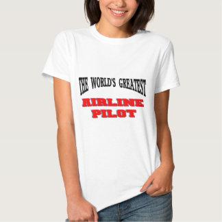 El piloto más grande de la línea aérea camisas