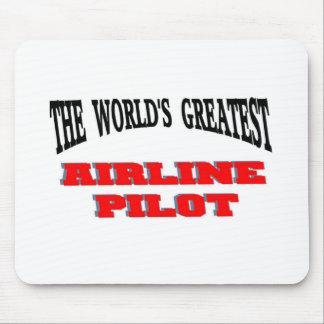 El piloto más grande de la línea aérea tapete de ratón