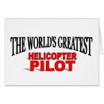 El piloto más grande del helicóptero del mundo tarjeta