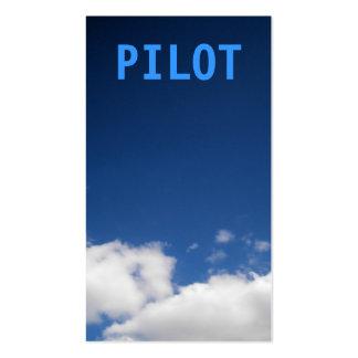 El piloto se nubla la tarjeta de visita