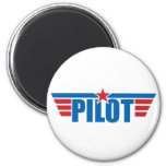 El piloto se va volando la insignia - aviación imán de frigorifico