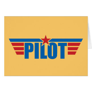 El piloto se va volando la insignia - aviación felicitación
