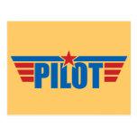 El piloto se va volando la insignia - aviación postales