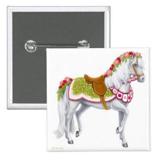 El Pin color de rosa del caballo