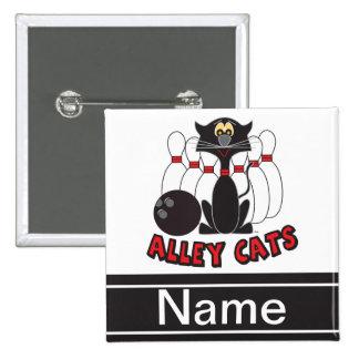 El Pin de bolos de los gatos callejeros el | Pin Cuadrada 5 Cm