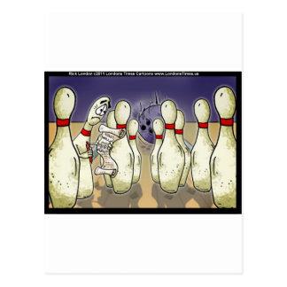 El Pin de bolos vivo las tarjetas divertidas etc d Tarjeta Postal