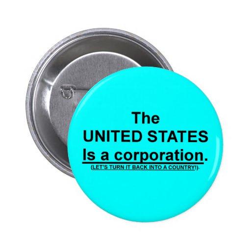 El Pin del botón con los Estados Unidos es una soc