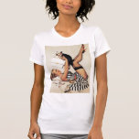 El Pin del vintage encima de chicas junta con te y Camisetas