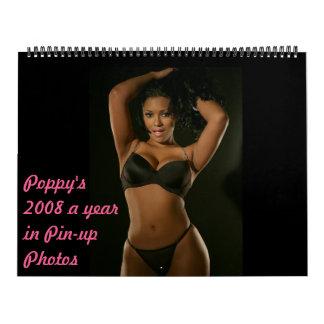 El Pin-para arriba 2008 de la amapola… Calendarios