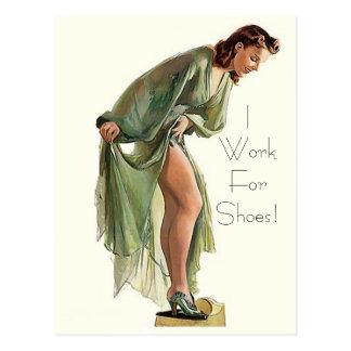 El Pin-para arriba retro del vintage me calza Postales