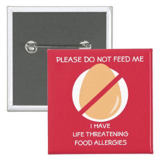 El Pin peligroso para la vida de la alergia del