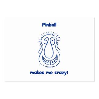 El pinball me conduce loco tarjetas personales