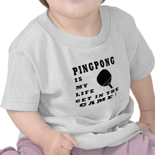 El ping-pong es mi vida camisetas