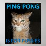 El ping-pong está para los gatitos impresiones