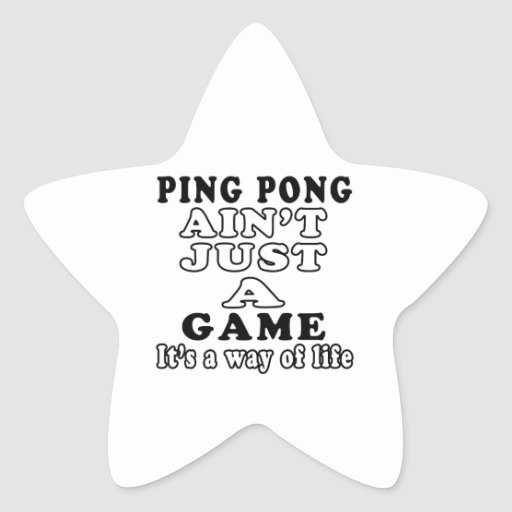 El ping-pong no es apenas un juego que es una colcomania cuadrada