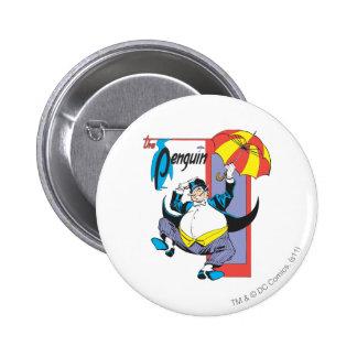 El pingüino 2 pin redondo de 2 pulgadas