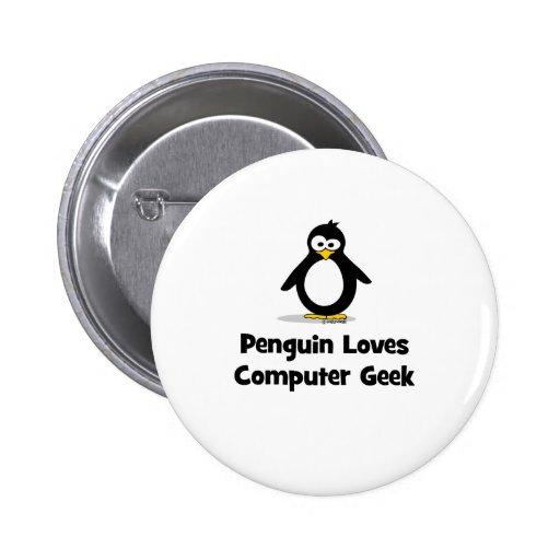 El pingüino ama al friki del ordenador