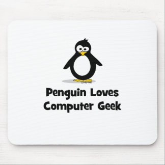 El pingüino ama al friki del ordenador mouse pads