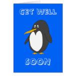 El pingüino consigue pronto la tarjeta bien