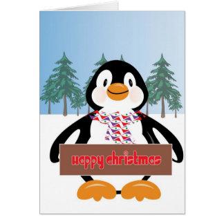 ¡El pingüino de Paul quiere desearle Felices Navid Tarjetas