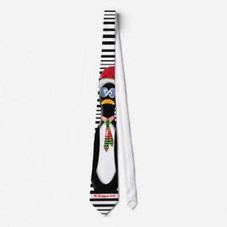 El pingüino Frazzled de Santa hizo compras todo Corbatas Personalizadas