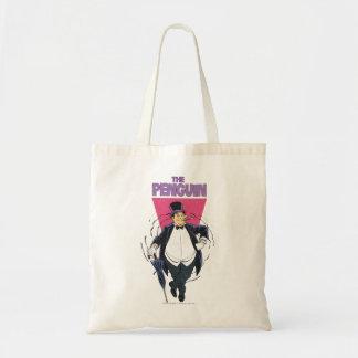 El pingüino - gráfico apenado bolsa tela barata