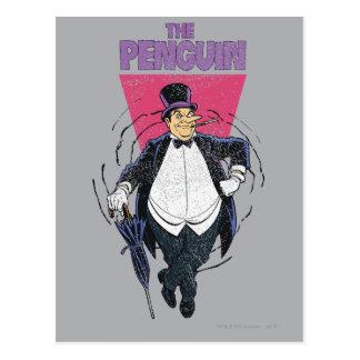 El pingüino - gráfico apenado postal