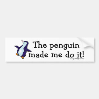¡El pingüino hizo que lo hace! Pegatina Para Auto