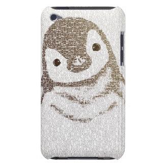 El pingüino intelectual - arte de la tipografía barely there iPod fundas