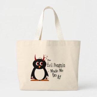 El pingüino malvado hizo que lo hace la bolsa de