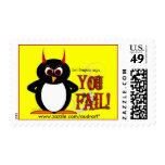 El pingüino malvado le dice franqueo del FALL