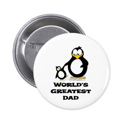 el pingüino más grande del papá de los mundos pin redondo 5 cm