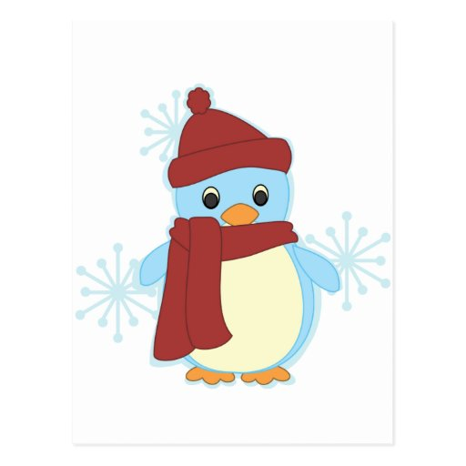 El pingüino más pequeño tarjeta postal