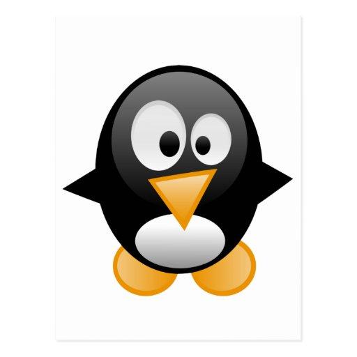 el pingüino quiere amor del abrazo de la mamá tarjetas postales
