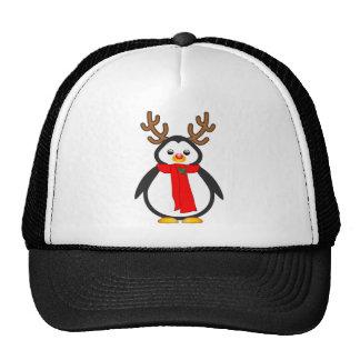 El pingüino sospechado rojo gorras de camionero