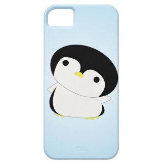 El pingüino tímido del bebé dice hola el caso del funda para iPhone SE/5/5s