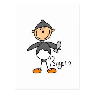 El pingüino viste para arriba las camisetas y los postales