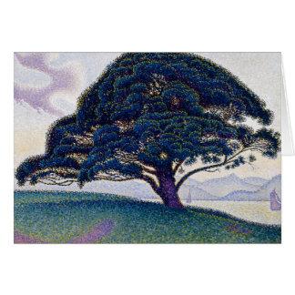 El pino de Bonaventure de Paul Signac Tarjeta De Felicitación