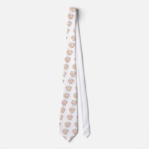 El Pinscher miniatura gobierna la diversión Corbata Personalizada