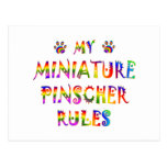 El Pinscher miniatura gobierna la diversión Postal