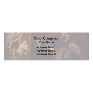 El pintor de Honore Daumier Plantillas De Tarjeta De Negocio